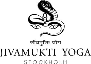 Jivamukti Yoga Stockholm logo with a cobra and three eye