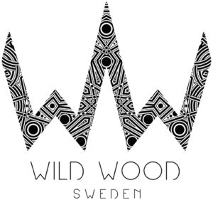 Wild Wood Sweden logo with the wild wood mandala in the background